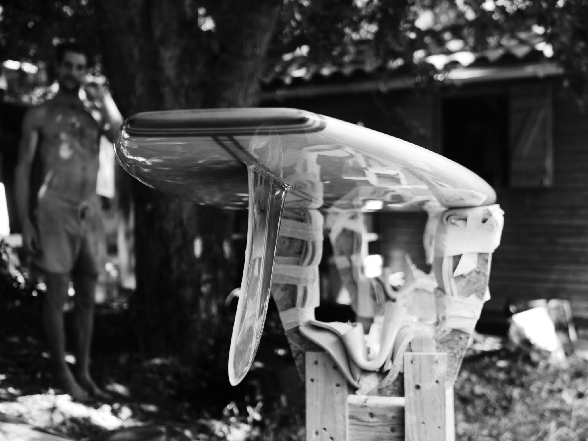 Cachalot Surfboards planche surfboard artisan surf shaper bois hollow wooden longboard shape