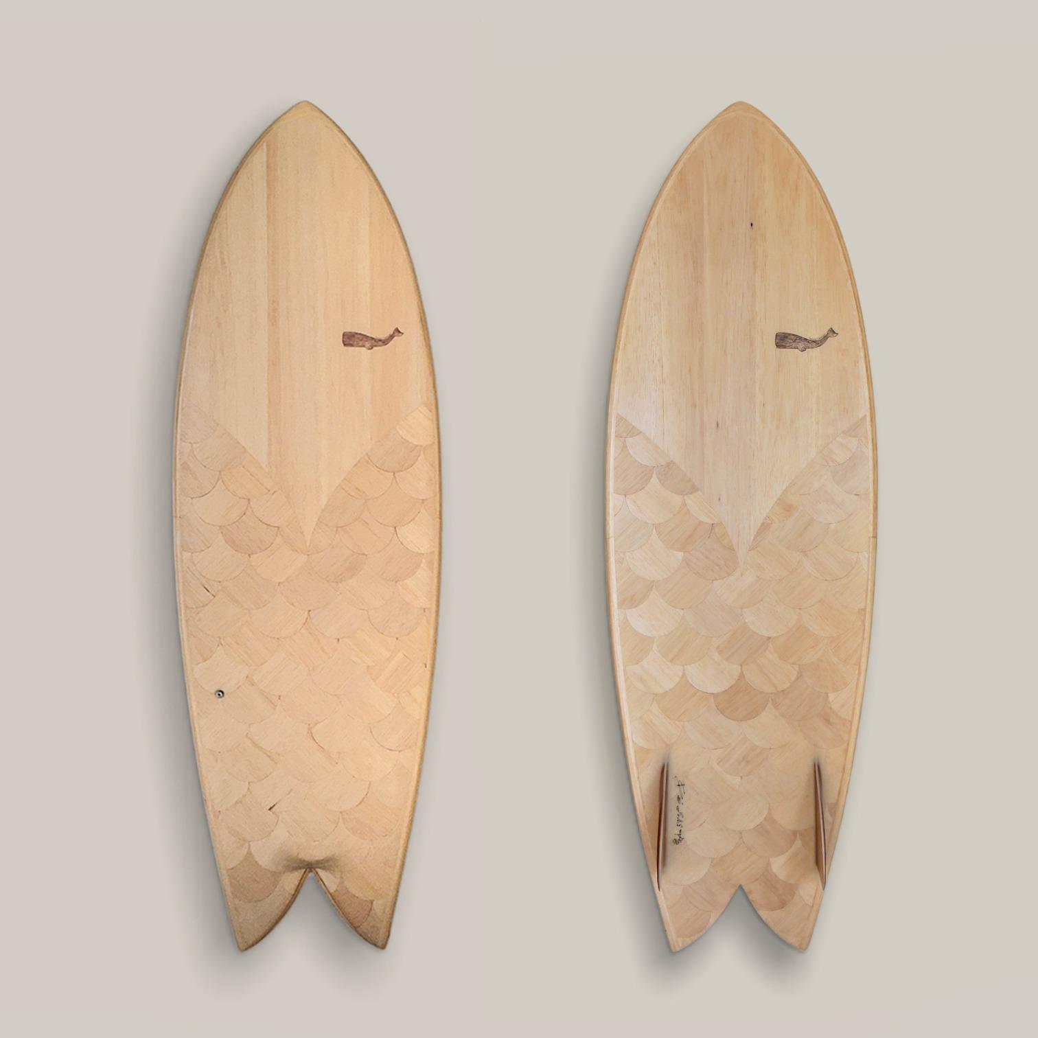 Cachalot Surfboards balsa planche surf handmade artisan shaper hollow bois