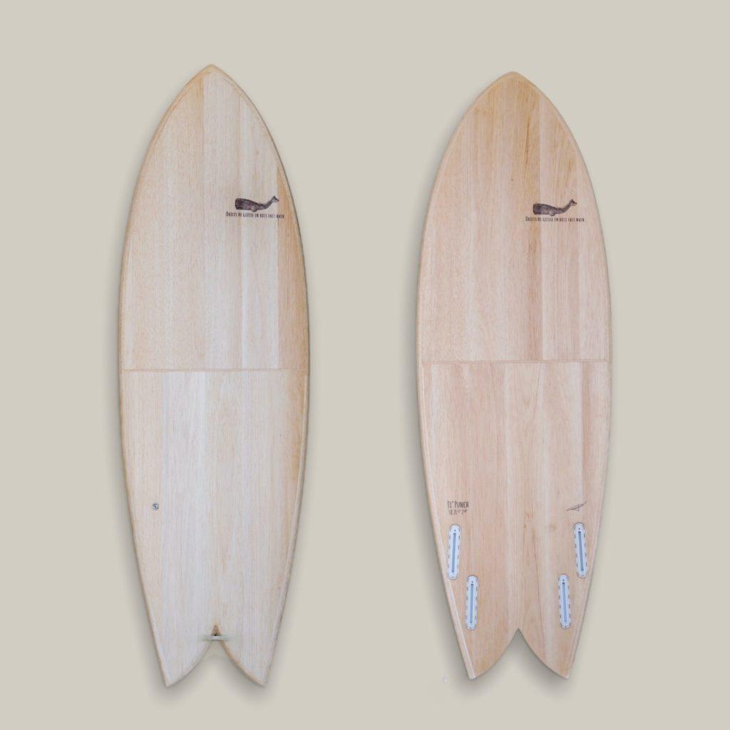 Cachalot Surfboards eps planche surf handmade artisan shaper hollow bois balsa