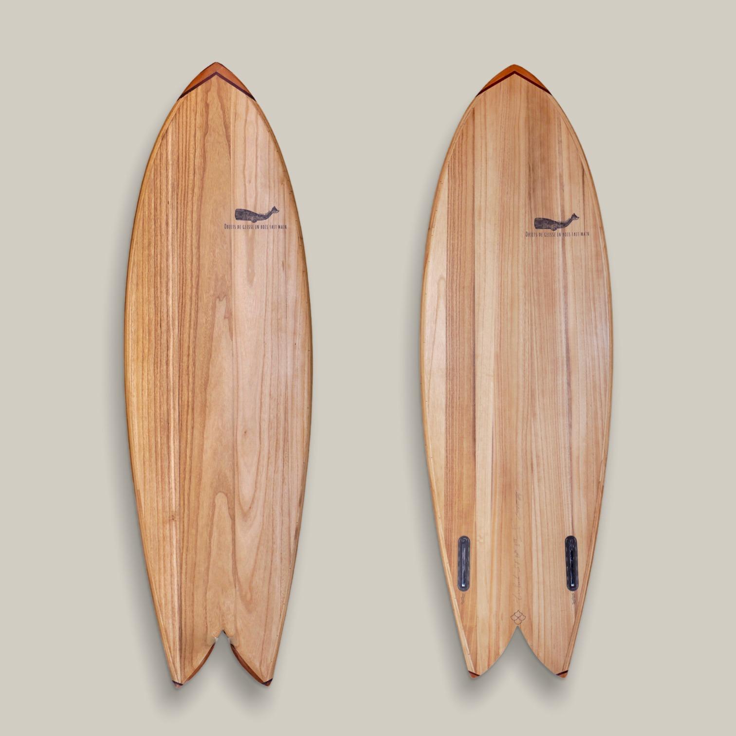 Cachalot Surfboards paulownia planche surf handmade artisan shaper hollow bois