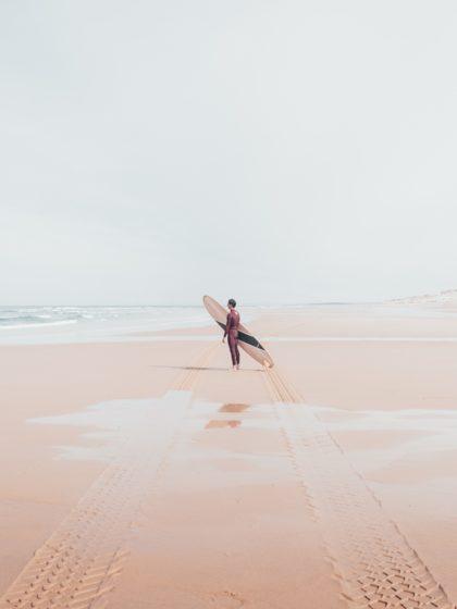 cachalot surfboards artisan longboard shaper surf bois hollow wooden sunrise over sea
