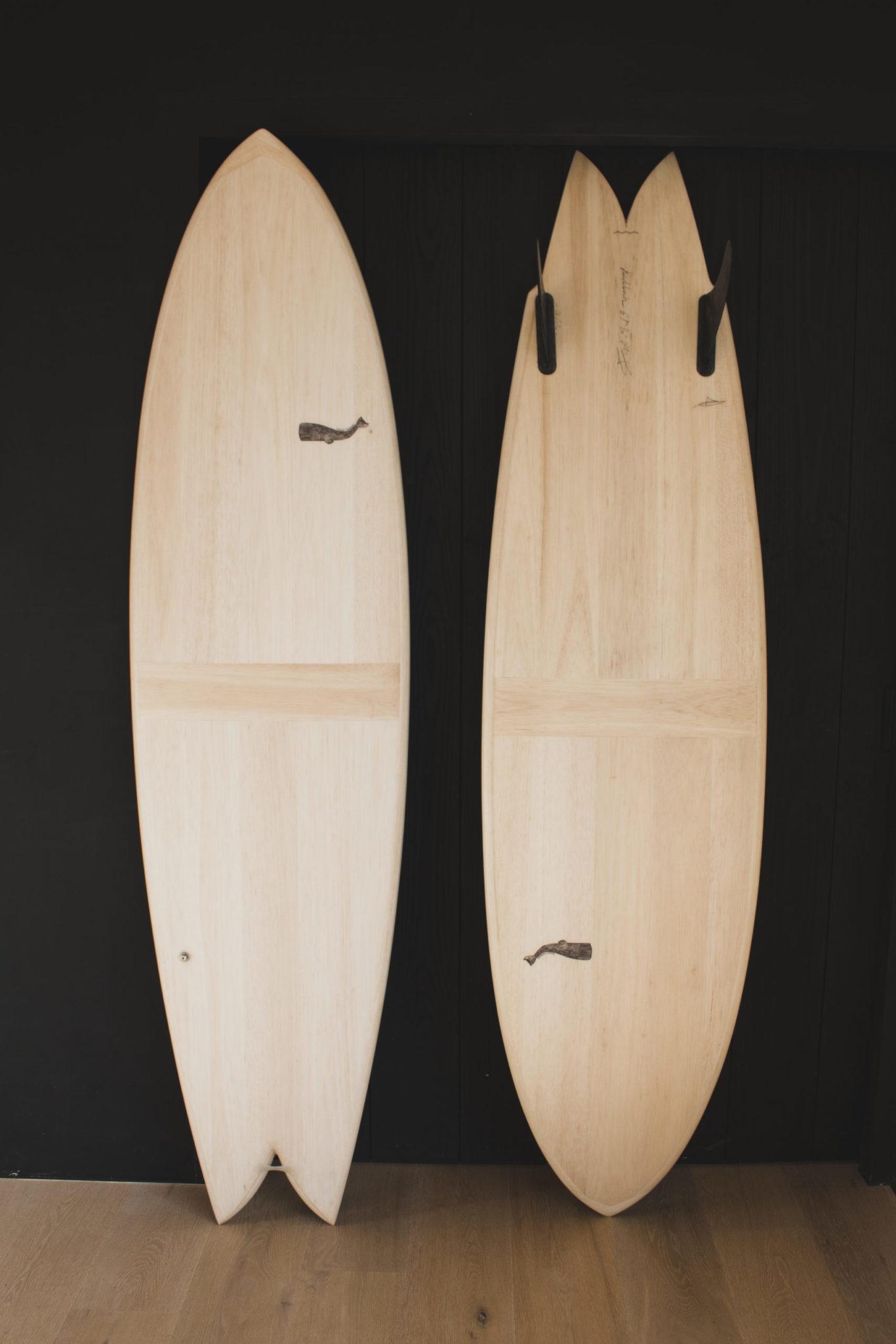 Cachalot Surfboards surfboard artisan surf shaper bois hollow wooden bois mid length haddock