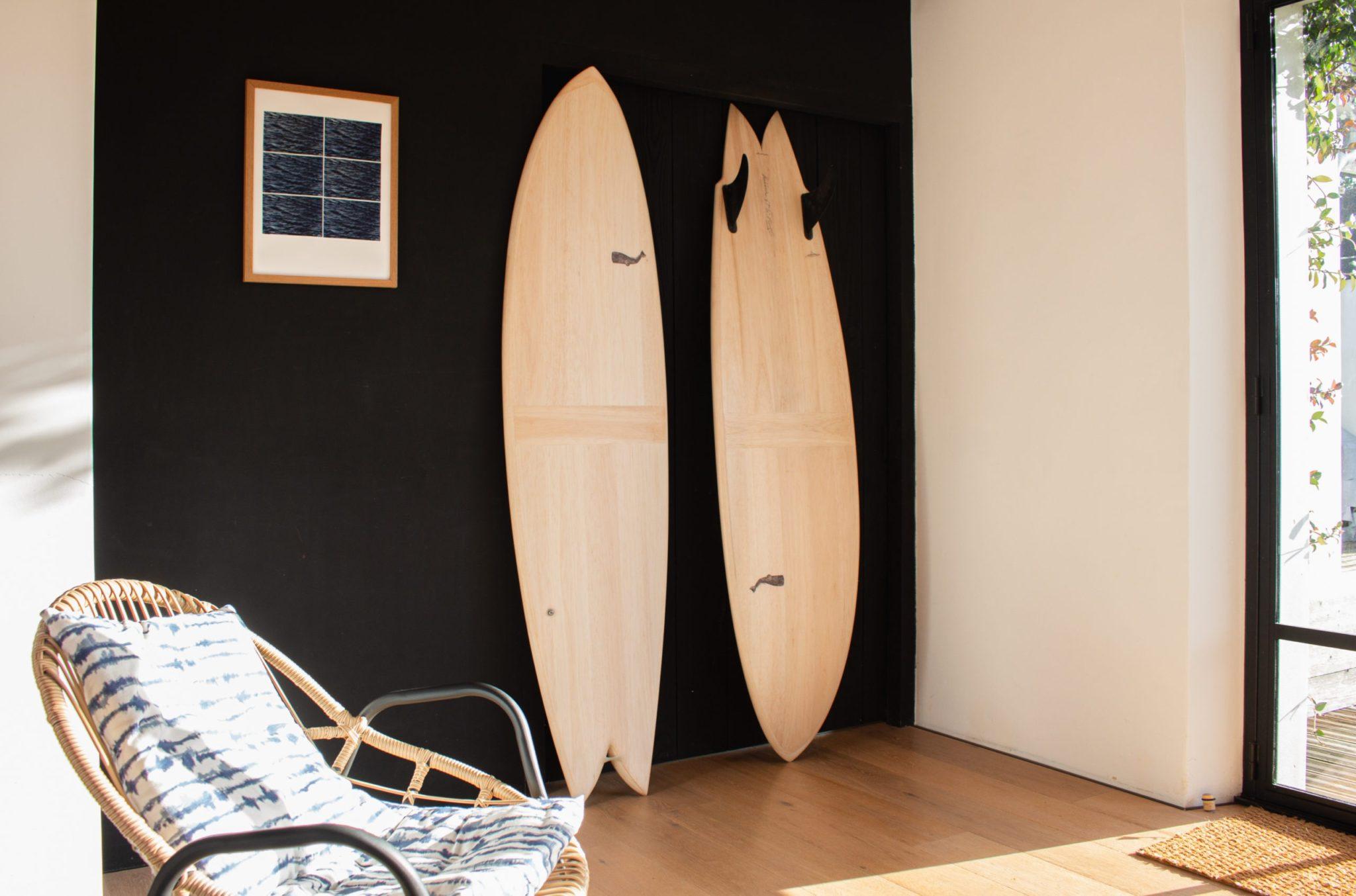 cachalot surfboards planche de surf artisan shape shaper bois hollow wooden balsa ile de ré
