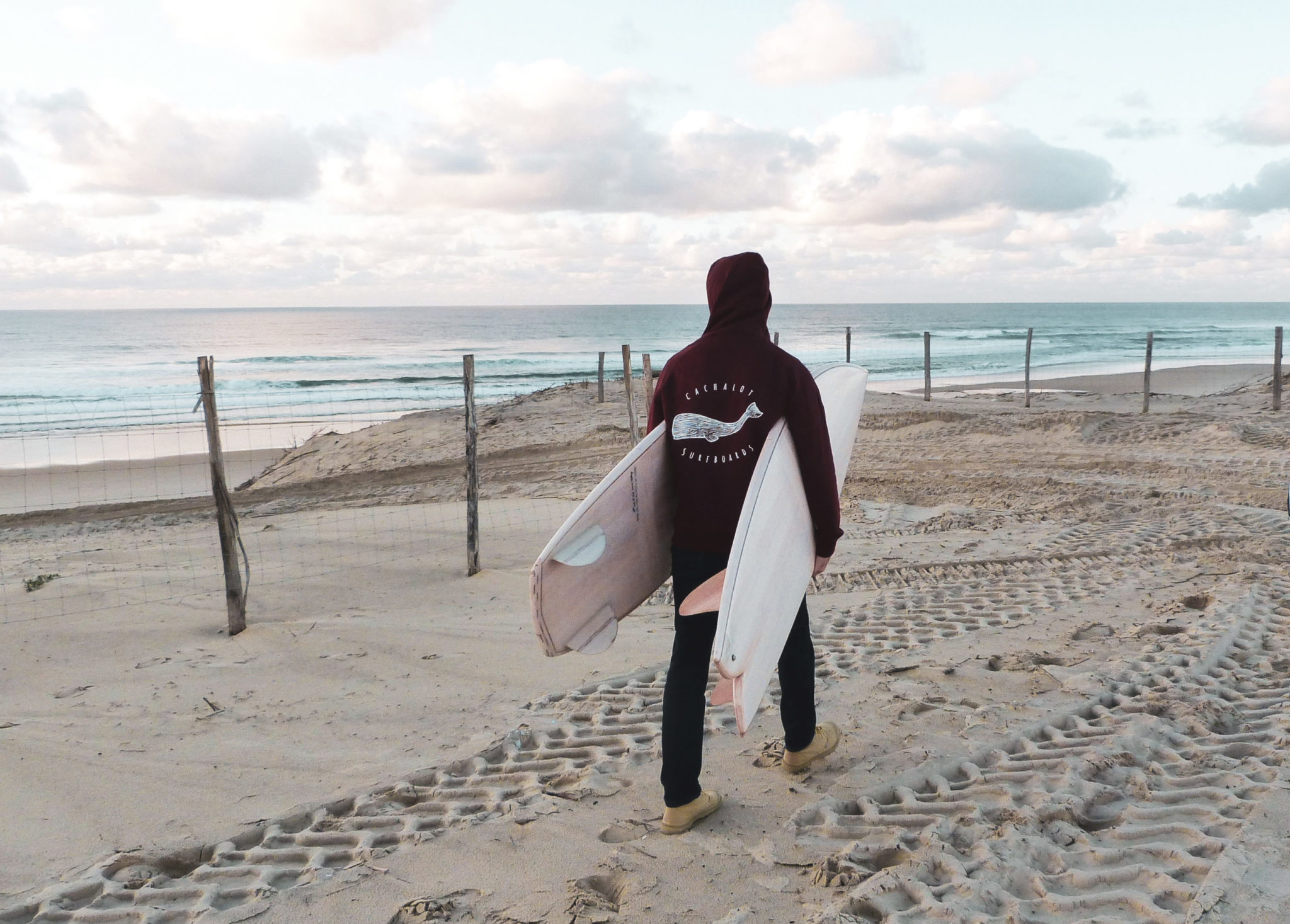 cachalot surfboards planche surf handmade artisan shaper textile sweat à capuche