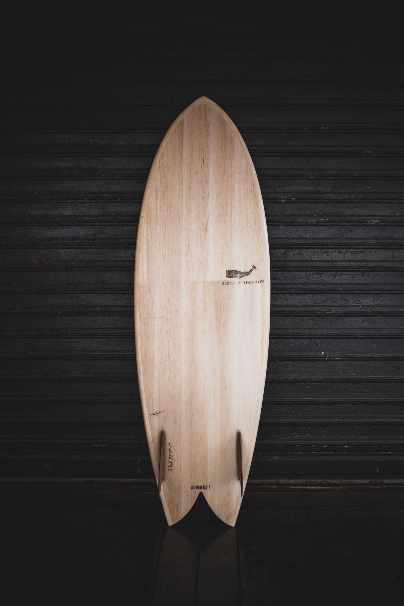 Cachalot surfboards planche surf bois wooden artisan shaper