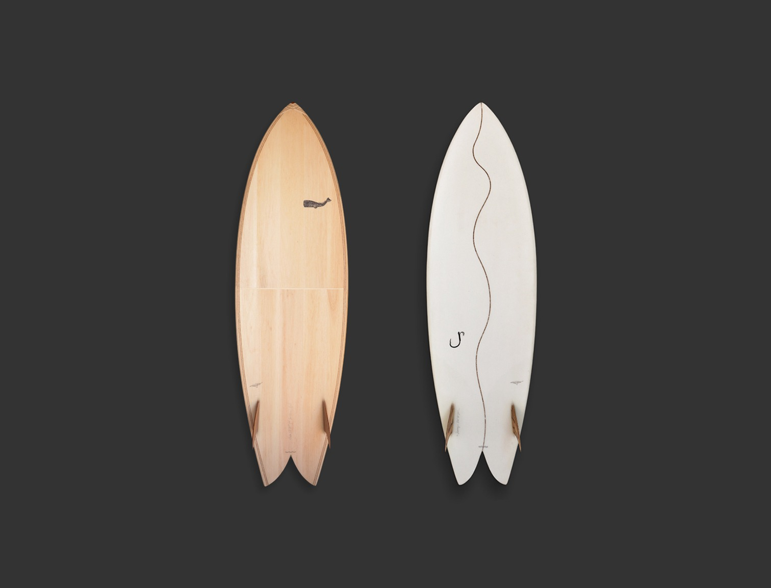 Cachalot Surfboards artisan surf shaper bois hollow wooden bois quiver