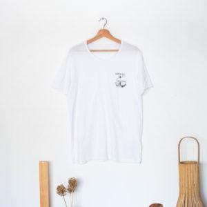 Cachalot Surfboards planche surf handmade artisan shaper textile tee shirt blanc