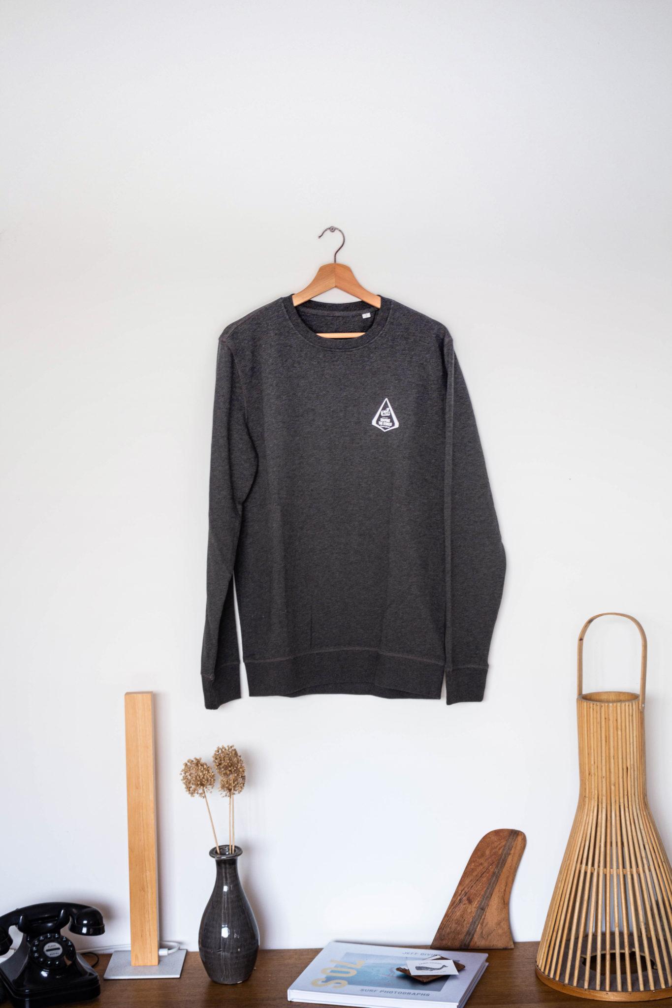 Cachalot Surfboards planche surf handmade artisan shaper textile sweat gris
