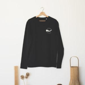 Cachalot Surfboards planche surf handmade artisan shaper textile sweat noir