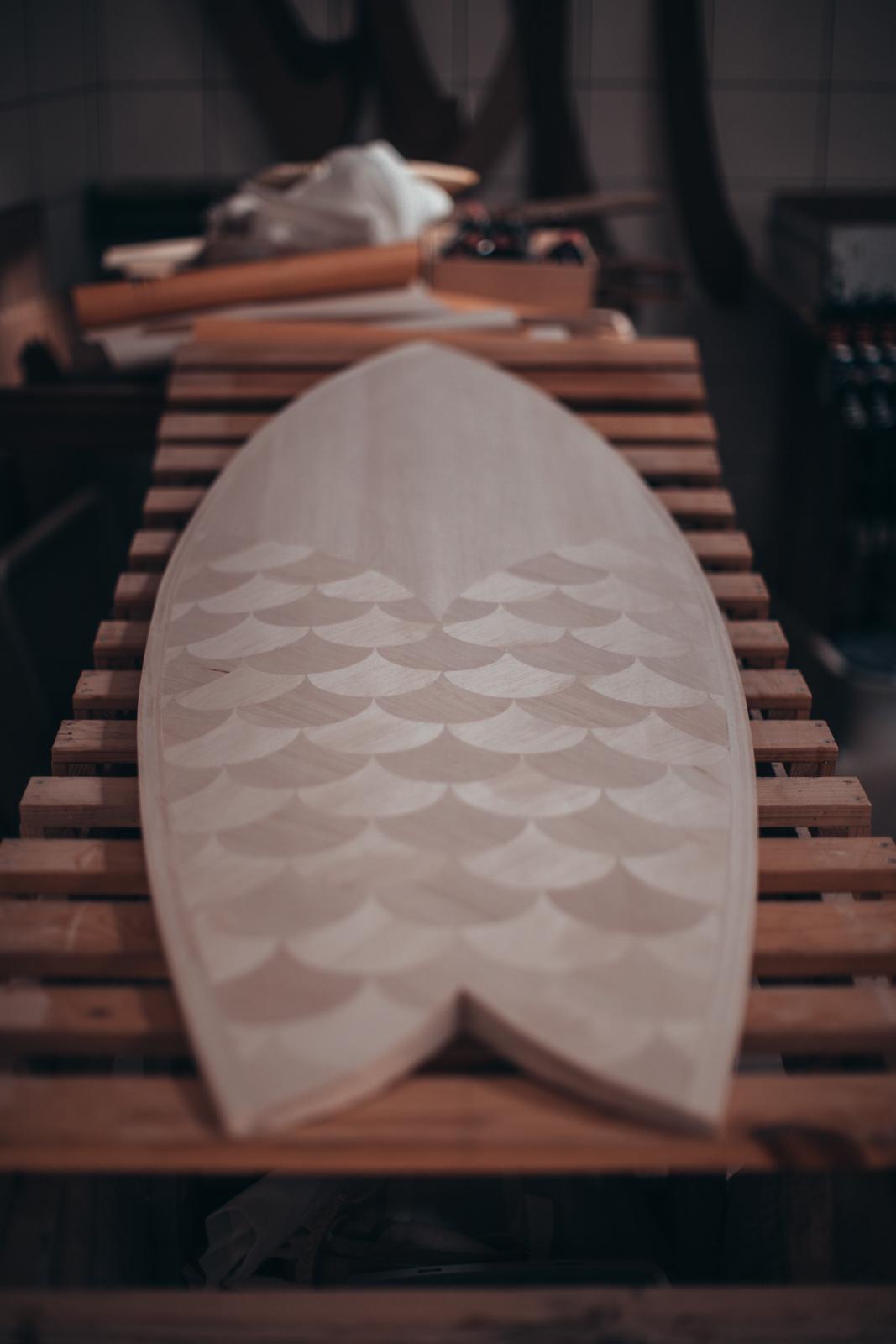 Shaper bois Cachalot Surfboards wood wooden surfboard hollow pexhon surf art