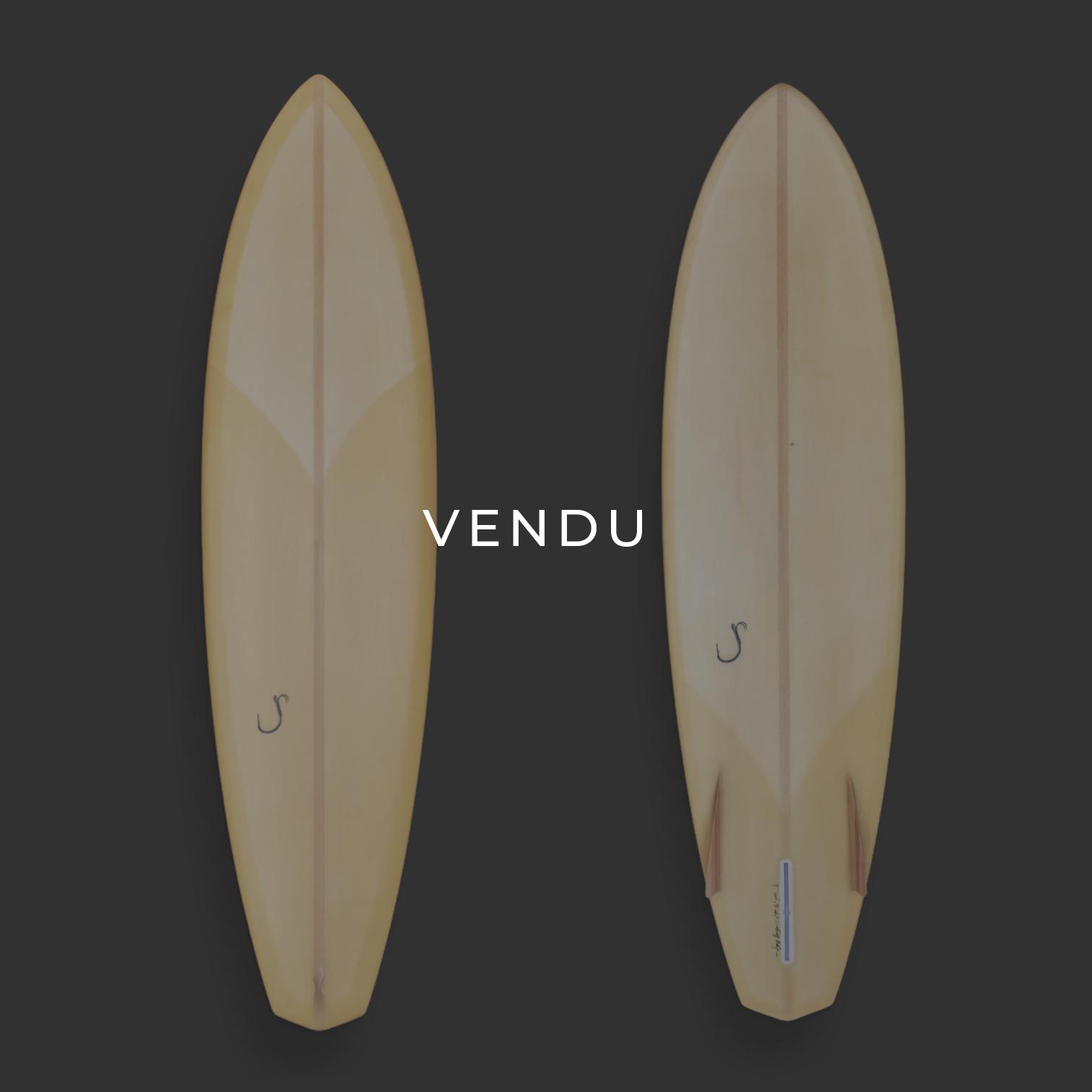 cachalot surfboards bonzer jaune planche surf handmade artisan shaper hollow bois eps